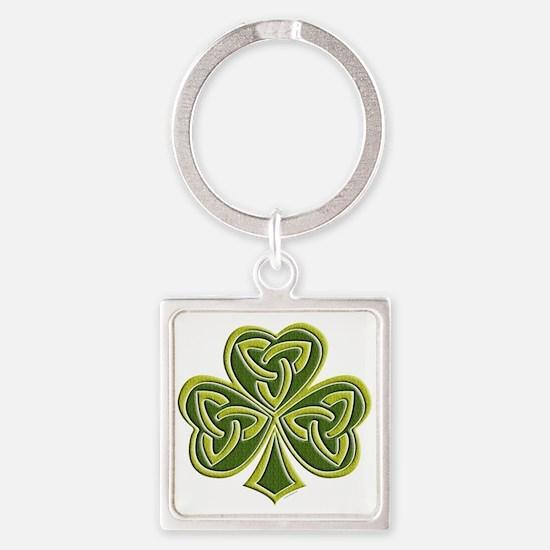 Celtic Trinity Square Keychain