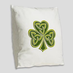 Celtic Trinity Burlap Throw Pillow