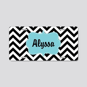 Black Blue Chevron Personalized Aluminum License P