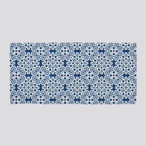 Classic Blue & White Lace 2 Beach Towel