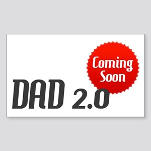 Dad 2.0 Expectant Father Rectangle Sticker