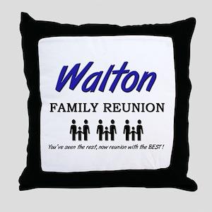 Walton Family Reunion Throw Pillow