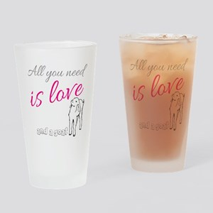 ALL you Need is Love and a Goat Drinking Glass