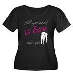 ALL you Need is Love and a Goat Plus Size T-Shirt
