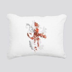 English Lion Rectangular Canvas Pillow