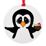 Penguin With Coconut Ornament