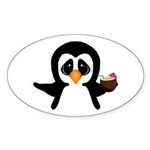 Penguin With Coconut Sticker