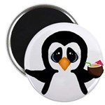 Penguin With Coconut Magnets