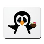 Penguin With Coconut Mousepad
