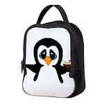 Penguin With Coconut Neoprene Lunch Bag
