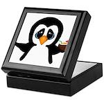 Penguin With Coconut Keepsake Box