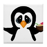 Penguin With Coconut Tile Coaster
