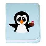 Penguin With Coconut baby blanket