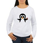 Penguin With Coconut Long Sleeve T-Shirt