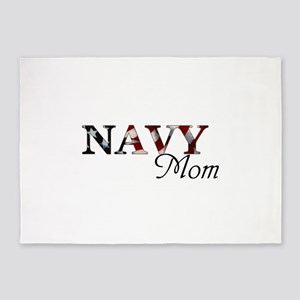 Mom Navy/Flag 5'x7'Area Rug