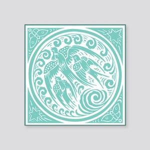 Vintage Art Nouveau Birds Sticker