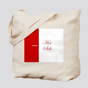 His Side Her Side 3 red Tote Bag