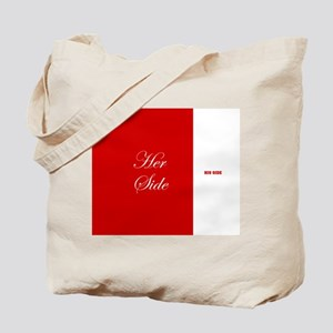 His Side Her Side 4 red Tote Bag