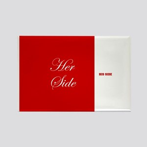 His Side Her Side 5 red Magnets