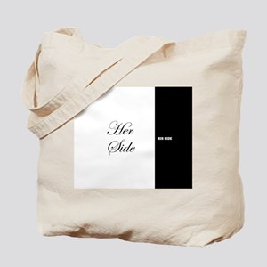 His Side Her Side 7 black white Tote Bag