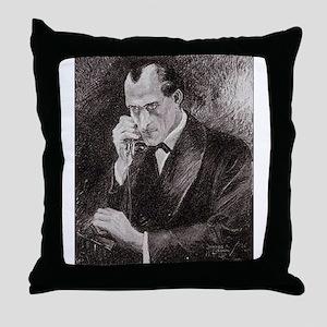 Skerock Holmes illustrations Throw Pillow