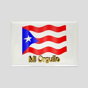 Bandera de Puerto Rico Rectangle Magnet