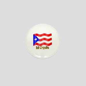 Bandera de Puerto Rico Mini Button