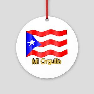 Bandera de Puerto Rico Ornament (Round)