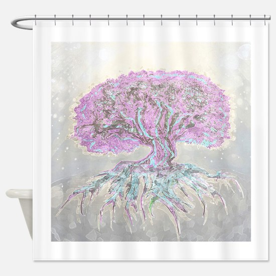 Funny Celtic tree of life Shower Curtain