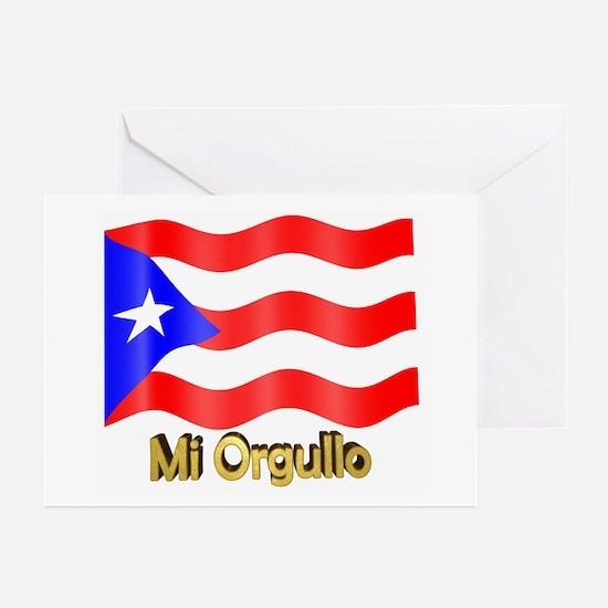 Bandera de Puerto Rico Greeting Cards (Package of