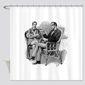 Skerock Holmes illustrations Shower Curtain