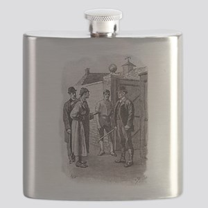 Skerock Holmes illustrations Flask