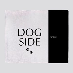 dog side 8 black white Throw Blanket