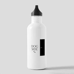 dog side 8 black white Water Bottle