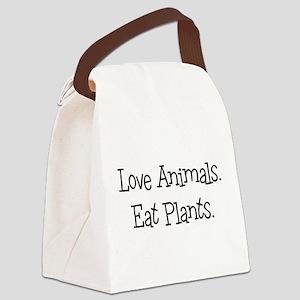 Love Animals Eat Plants Canvas Lunch Bag