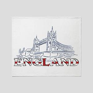 England: Tower Bridge Throw Blanket