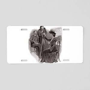 Skerock Holmes illustrations Aluminum License Plat