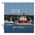 Round Island Passage Lights Shower Curtain