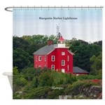 Marquette Harbor Lighthouse Shower Curtain