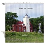 40 Mile Point Lighthouse Shower Curtain