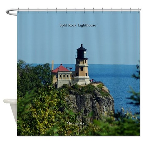 Split Rock Lighthouse Shower Curtain By Captjoeydesigns