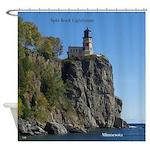 Split Rock Lighthouse From Beach Shower Curtain
