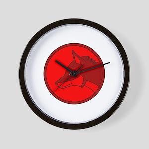 Celtic Fox Wall Clock
