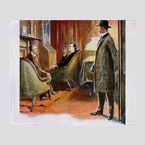 Skerock Holmes illustrations Throw Blanket