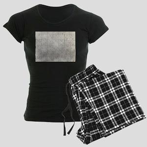 jigsaw puzzle print Women's Dark Pajamas