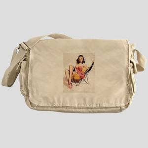 Vintage Pin-Up Messenger Bag