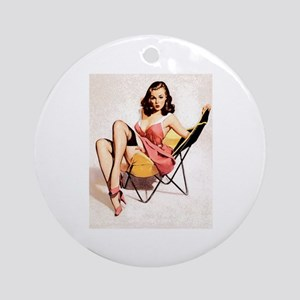 Vintage Pin-Up Ornament (Round)