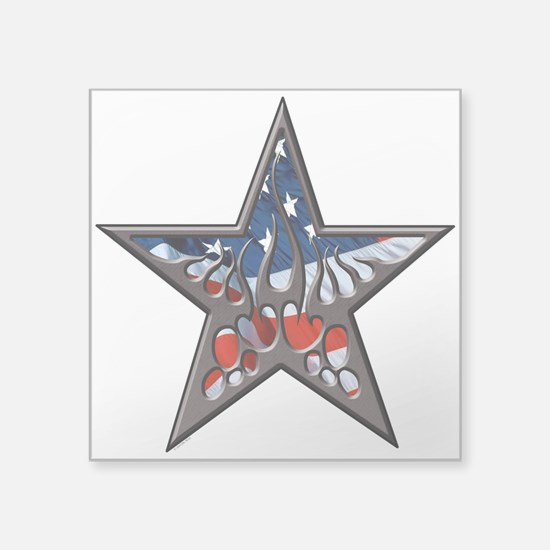 American flaming star.png Sticker