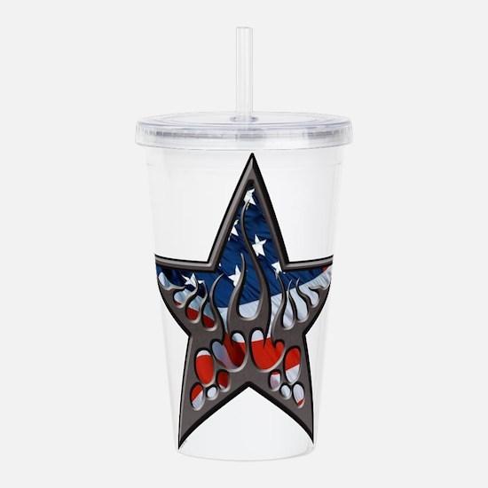 American flaming star.png Acrylic Double-wall Tumb