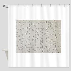 jigsaw puzzle print Shower Curtain